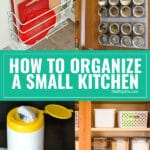 Trying to cook and stay organized in a small kitchen can be a struggle. But I'm going to share a ton of tips, hacks and sources for making the most of space and storage in small kitchens!