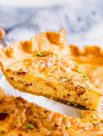 Is there anything better than a Classic Quiche Lorraine recipe? Simple ingredients, minimal steps and a delicious quiche to elevate any brunch! Made with eggs, cream, bacon, and gruyere cheese these are seriously easy and delicious!