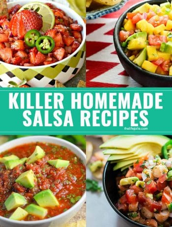 Need some insanely delicious options to take your snacking to the next level? Check out these killer homemade salsa recipes! The hardest part will be deciding which to try first! These are perfect for Cinco de Mayo or simply snacking by the pool or on game day!