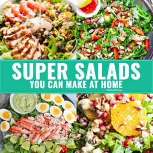 No need to go to a restaurant to get a delicious salad! Check out these super salads you can make at home!