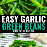 Garlic Green Beans are a family favorite side dish recipe. They're super easy to make with a few simple ingredients like fresh green beans, garlic, butter and fresh parsley and are pretty quick to! Easy enough for weeknight dinner but special enough to serve for holiday dinners as well!