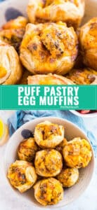 Puff Pastry Egg Muffins are perfect to make for family brunch and also to make for a tasty grab-and-go option through the week. Quick, easy and minimal effort for maximum flavor!