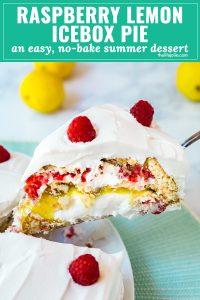 Raspberry Lemon Icebox Pie