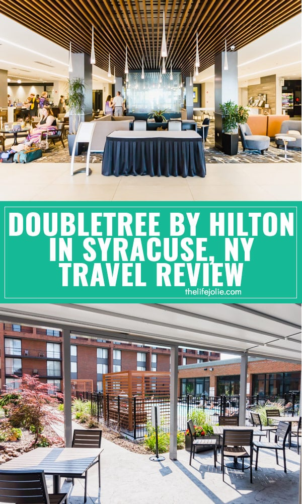 We recently enjoyed a stay at theDoubleTreeby Hilton Syracuse for a weekend getaway for our family and I'm so excited to share all the details about our stay! This is an honest and unbiased review to help those looking for hotels near Syracuse, NY for a kid-friendly getaway.