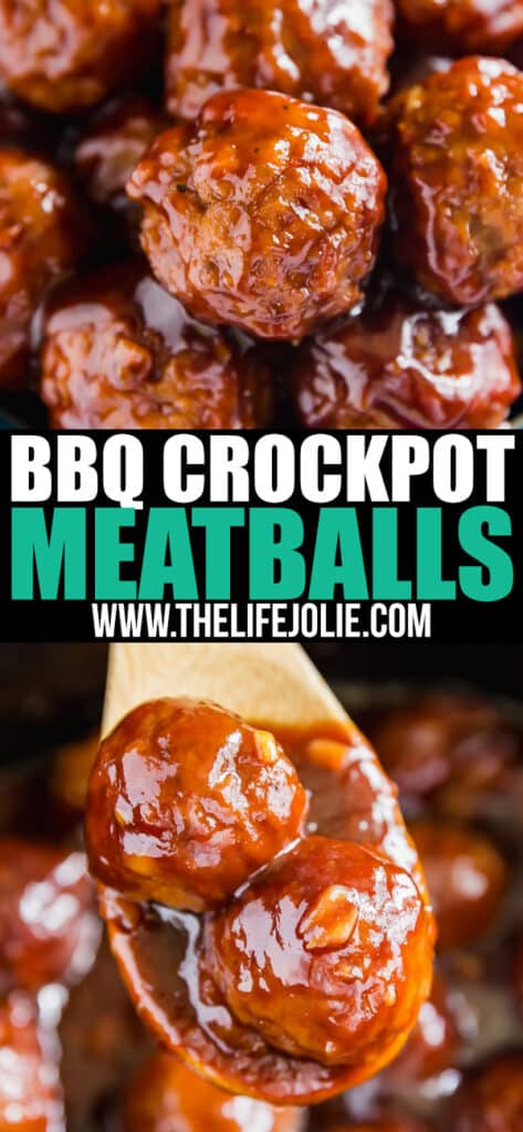 BBQ Crockpot Meatballs: 5 ingredients, minimal effort and maximum flavor! We use premade meatballs, ketchup, brown sugar, liquid smoke and onions. This is a killer party or game day appetizer that your friends will love!