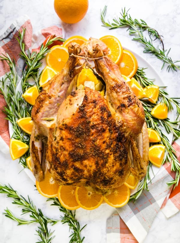 How To Cook A Turkey Orange Rosemary Oven Roast Turkey Recipe