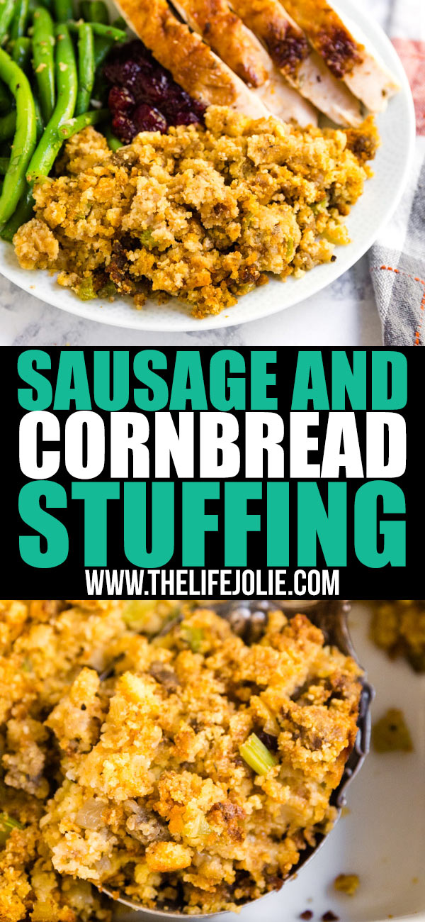 Whether you call in dressing or stuffing, this classic Sausage and Cornbread Dressing is a sure fire way to turn a believer into a stuffing lover! This easy side dish is a must-have at any Thanksgiving table!