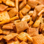 This Buffalo Chex Mix recipe brings the crunchy goodness of Original Chex Mix but with a spicy Buffalo kick that we all love- it's down right addictive!