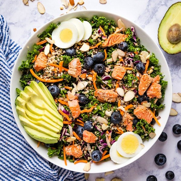 Need a delicious and satisfying detox meal? This Super Foods Kale Salad Recipe is just what you're looking for! And you won't want to miss my tips for making the kale much more enjoyable to eat raw!