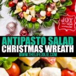 Need a show stopping appetizer for this holiday season? Look no further, this Antipasto Salad Christmas Wreath is as festive as it is delicious!