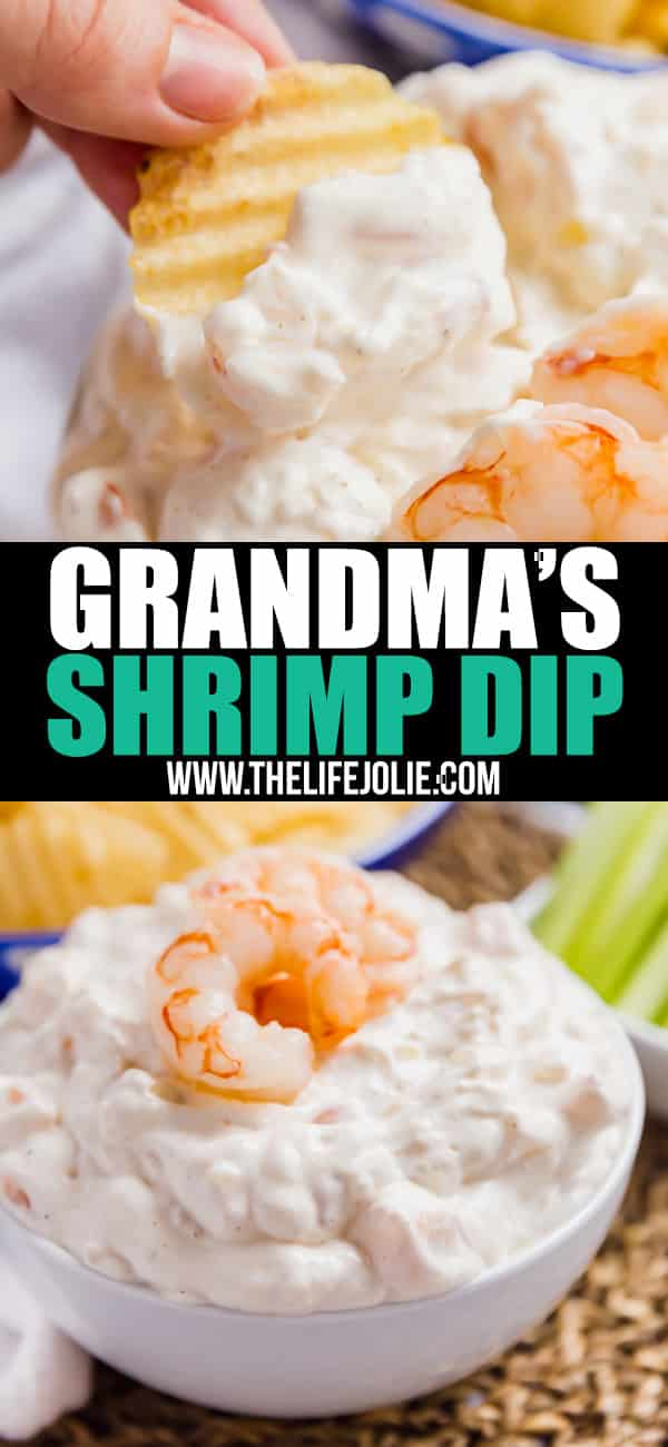 Grandma's Shrimp Dip is a huge family favorite passed down through the generations- it's quick and easy to throw together and everyone always begs for the recipe! Perfect for the holidays!