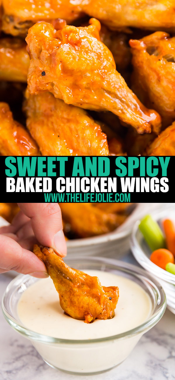 These Sweet and Spicy Baked Chicken Wings are a definite winner: quick and easy to throw together and they come out so crispy with the most fantastic sweet and spicy sauce that will have everyone begging for seconds!