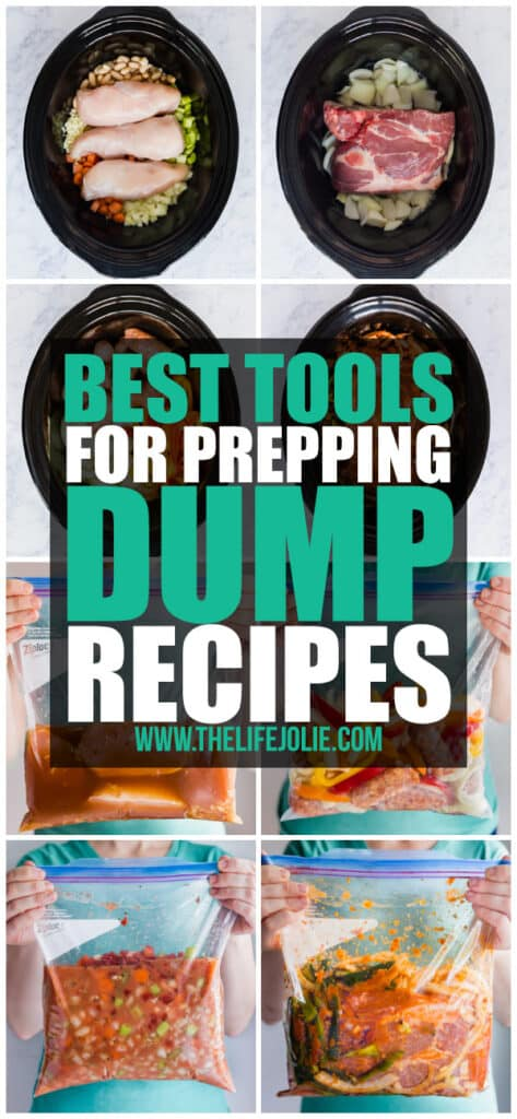 I put together a list of the best tools to get easy dump dinners onto your table. They make the recipe prep as efficient as possible.