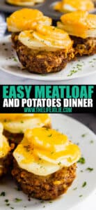 This Easy Meatloaf and Potatoes Dinner gives you meat and potatoes all in one delicious shot! And best of all, dinner's on the table in just around 30 minutes!