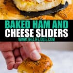 Make these easy Baked Ham and Cheese Sliders for your next party and watch as your friends fight for seconds! Made with ham, Swiss cheese, Hawaiian rolls and honey mustard sauce, these are sure to be a hit at a party or game day gathering!