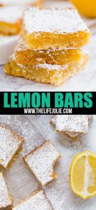 This Lemon Bars Recipe is a classic family favorite- super easy to throw together with a bright and tangy-sweet lemon curd layer and short bread crust.