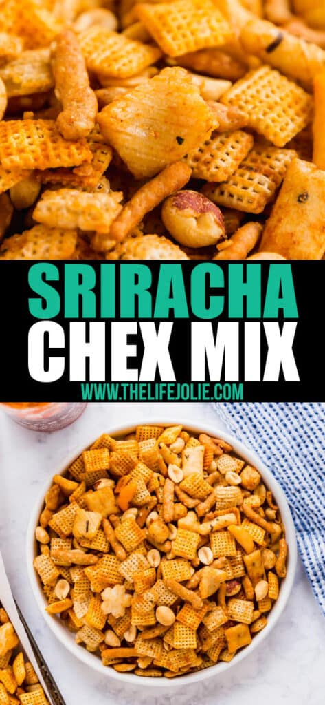 Chex Mix is everyone's favorite party mix and the addition of Sriracha kicks it up a notch in more ways than one! This makes a great homemade gift and is a hit at every party!