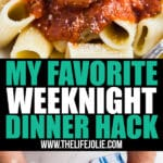 I'm so excited to share one of my favorite hacks for weeknight dinners! Wegmans chef-developed ready-to-cook entrées in oven-safe packaging offer a great way to get a delicious dinner onto the table with minimal work and clean up!
