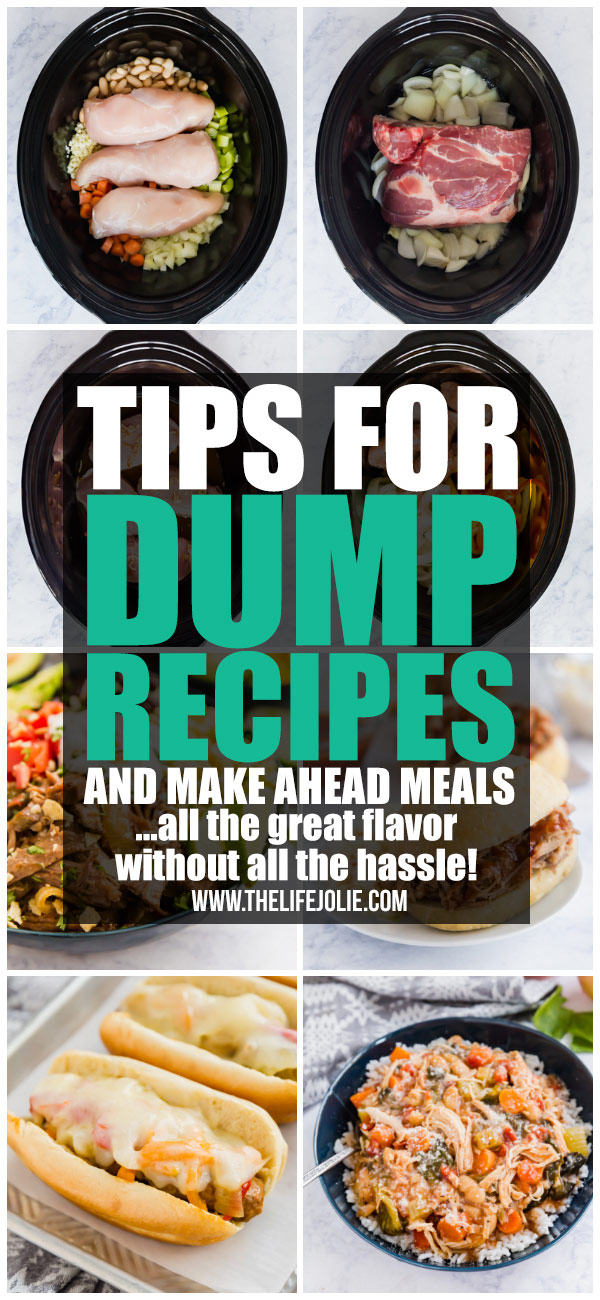 I'm excited to share some great tips, tricks and hacks to make preparing dump recipes and make ahead meals easier and more efficient!