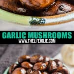 My Grandma's Garlic Mushrooms are a seriously easy recipe with delicious flavor. Make them as a delicious make-ahead side dish for a weeknight meal or a special holiday dinner!