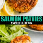 Salmon Patties are a tasty light lunch and are great for brunch with the family! They're quick and easy to make and offer an excellent way to use up leftover salmon.