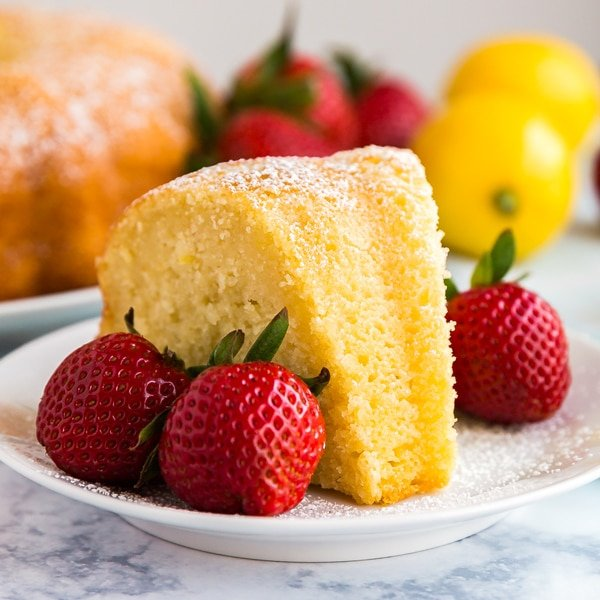 My Great Grandma's Lemon Pound Cake Recipe is a serious keeper! Easy to make, subtly sweet with a light and moist crumb that no one can resist.