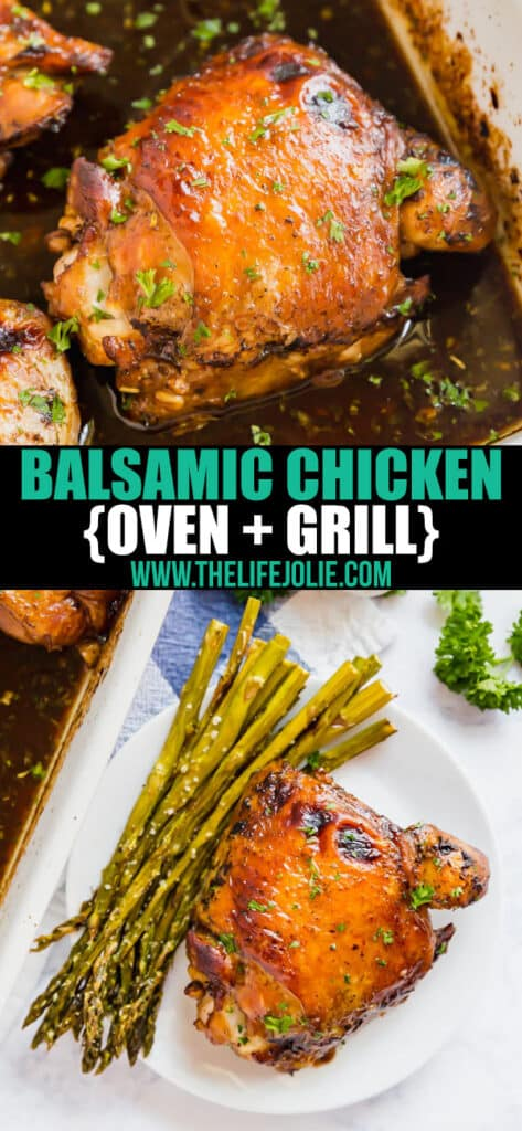 Honey Balsamic Chicken is a quick and easy dinner option that comes out fantastic roasted or grilled! It also makes a great freezer meal.