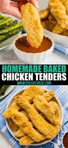 Why get take out when you can make a much better (and healthier!) version at home? These Homemade Baked Chicken Tenders make a fantastic easy weeknight dinner!