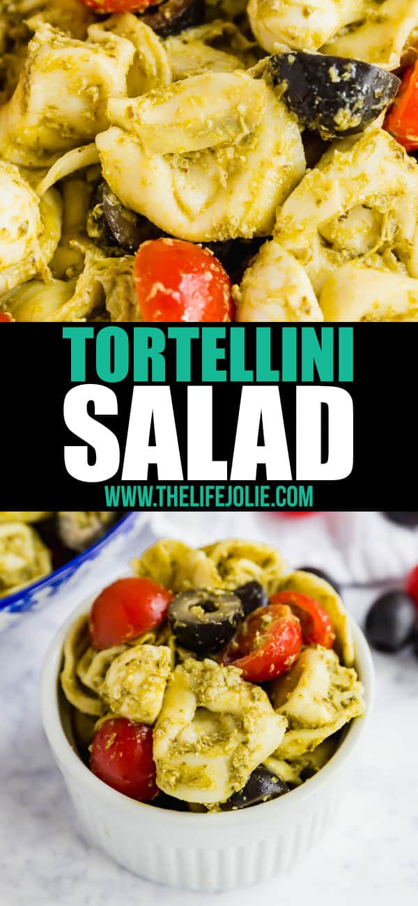 Pesto Tortellini Salad is the easiest pasta salad you'll make! Throw this quick and delicious pasta salad together in minutes and wow your friends and family!