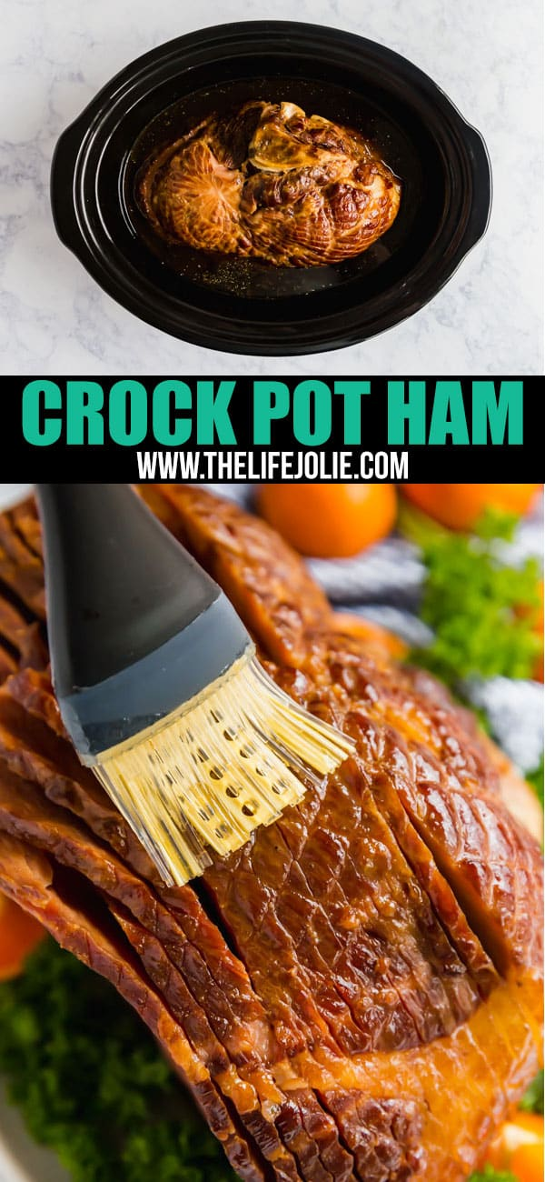 Wanna prepare your holiday ham the easy way? Make this Crock Pot Ham! Made with a spiral ham, brown sugar, bourbon and hot sauce, it's just 5 minutes of work for you and the slow cooker does the rest!