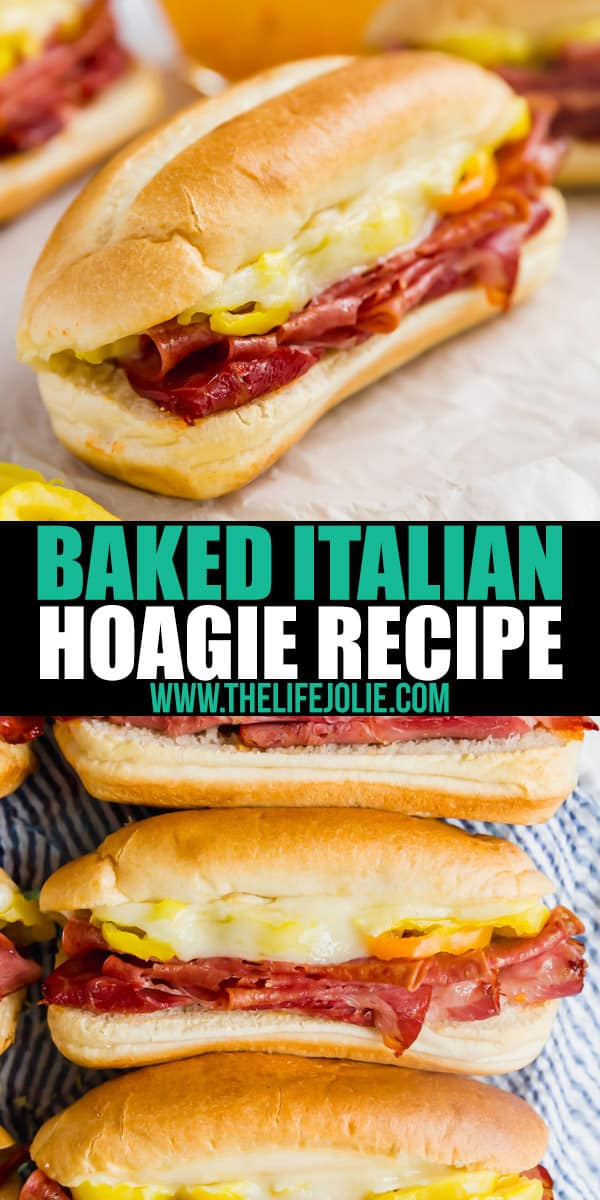 This baked Italian Hoagie recipe is the perfect crowd-pleasing main dish. They're crazy-easy to put together and bake up just right!