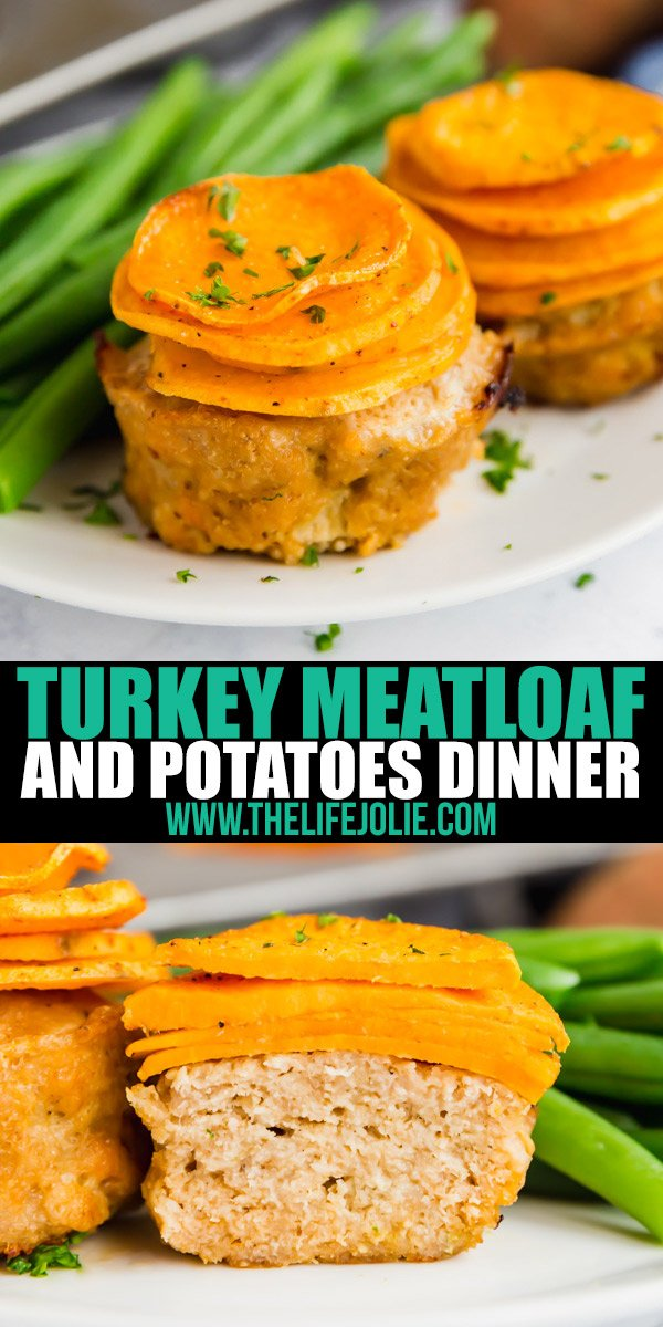 Turkey Meatloaf and Potatoes Dinner offers a lighter meat and potatoes option for a easy weeknight dinner. Just a little over 30 minutes and a few basic ingredients and you've got a weeknight dinner the whole family will love!