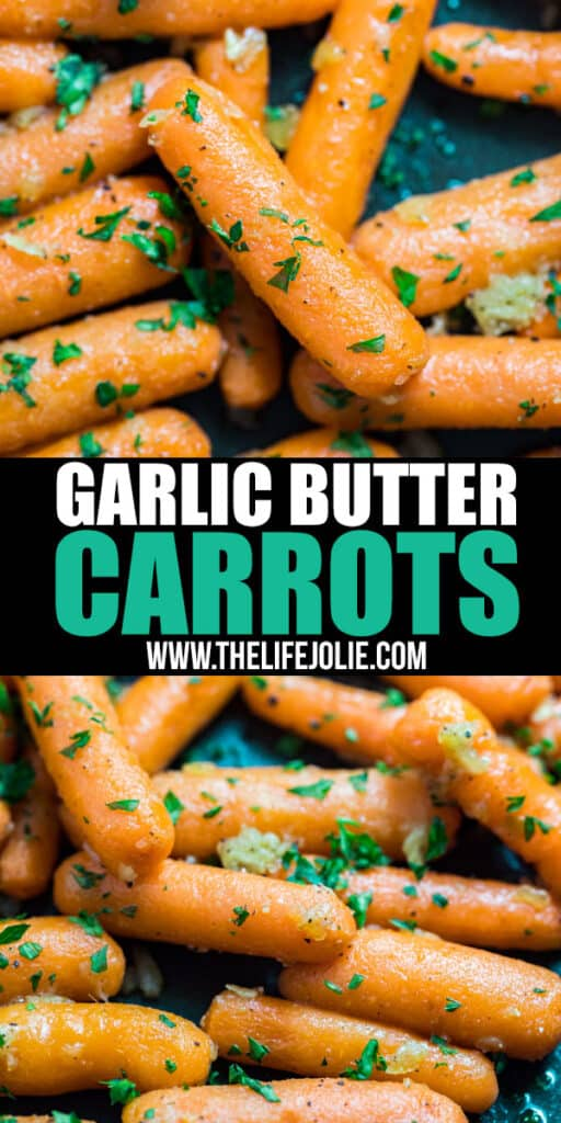 Cooked carrots don't have to be sugary sweet! Try these easy Garlic Butter Carrots. They're sautéed with a savory mix of butter and garlic and finished with fresh parsley for a simple side dish that's sure to please!