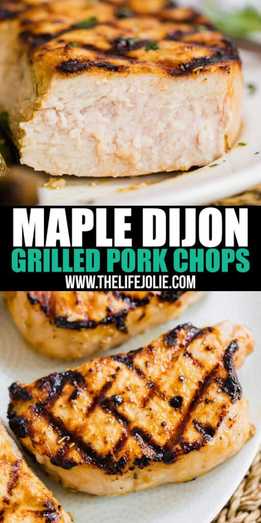 This Maple Dijon Grilled Pork Chop Marinade is so full of savory, delicious flavor, it'll be on repeat for the entire summer! It's easy to throw together and freeze or cook right away!