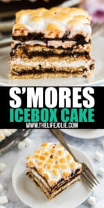 Meet the ultimate picnic dessert: S'mores Icebox Cake! This easy make-ahead dessert is quick to throw together with just a few ingredients and the results are beyond delicious.