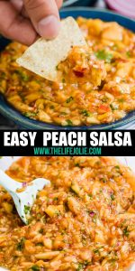 You've got to try this easy Peach Salsa! Made with just a few simple ingredients, this versatile dip adds a unique and delicious twist on a traditional salsa recipe and it really lets the peaches shine.