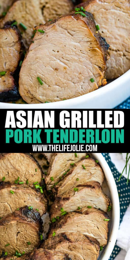 It's a busy summer weeknight- what's for dinner? Asian Grilled Pork Tenderloin! It's crazy easy to make and and full of unexpected but delicious flavor!