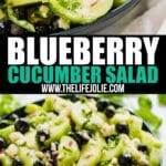 Ready for a picnic side dish that isn't the same old salad selection we've all seen? This Blueberry Cucumber Salad recipe with Feta Cheese and a white balsamic dressing is light and refreshing! You'll want to bring it to every family gathering this summer!