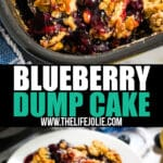 Make this Blueberry Dump Cake Recipe for a seriously easy dessert that is sure to wow your friends and family. Just dump the ingredients and bake- you don't even have to stir!