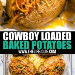 This BBQ Loaded Baked Potato Recipe is an easy throw-together dinner that's also an excellent way to repurpose leftovers. Full of all the delicious BBQ flavors we all know and love, this is a total weeknight winner!