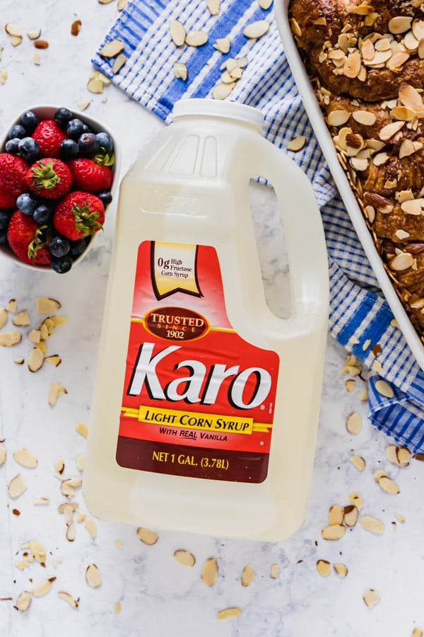 A gallon bottle of Karo Syrup.
