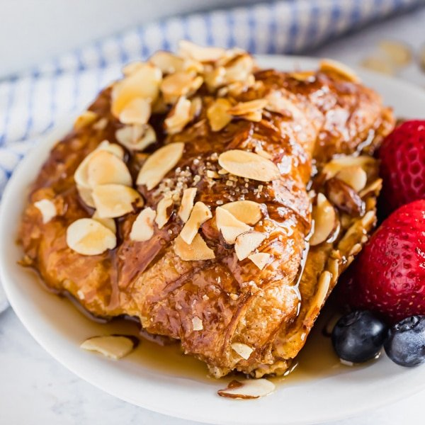 Make this Almond Croissant French Toast Bake if you want to impress your friends and family with minimal effort. It's easy to make and full of delicious flavor - you can even make it ahead!