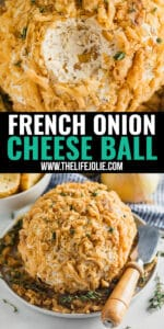 This French Onion Cheese Ball is a delicious savory appetizer that is sure to impress all your friends. It's also super easy to whip up! savory appetizer that is sure to impress all your friends. It's also super easy to whip up!