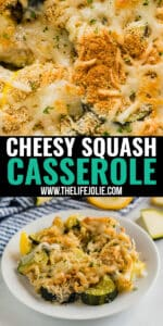 Cheesy Squash Casserole is the kind of side dish that will impress even the pickiest of eaters. Tender yellow squash and zucchini, savory bread crumbs and deliciously melty cheese make this side dish a total crowd pleaser!