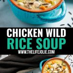 This Chicken Wild Rice Soup recipe is the best easy and tasty way to use leftover chicken or turkey. Made on the stovetop, it whips up in no time and is as comforting as it is delicious and comes together quickly (under an hour)!
