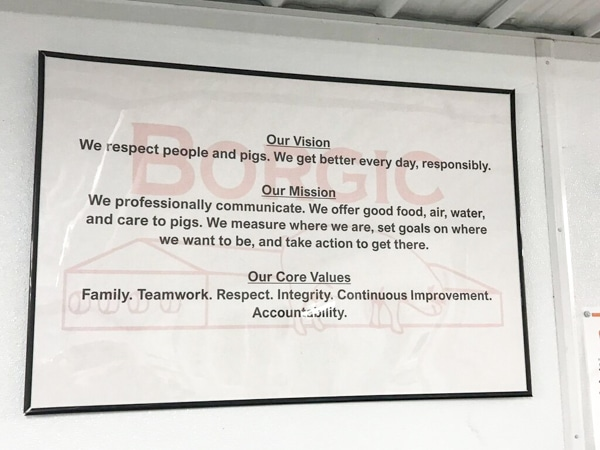 The mission statement at Borgic Farms