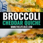Meet your new go-to quiche recipe: Broccoli Cheddar Quiche. It's quick and easy to make with delicious flavor and creamy texture with ender chunks of broccoli. Breakfast (or lunch) never tasted so good!