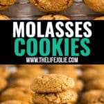 These soft old fashioned Molasses Cookies are the perfect combination of a little bit chewy and a little bit of spice. They're the best easy family favorite recipe that you'll want to make again and again (not just at Christmas)!