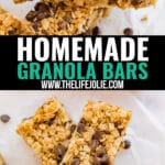 Who needs store-bought chewy granola bars when you can make your own? With simple, wholesome ingredients this easy to make Homemade Granola Bars recipe is a healthy snack that's sure to impress! And these are not just for kids, adults love them too!