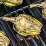 Grilled Artichokes are the perfect summer snack or appetizer! They're extremely easy to make with minimal ingredients and served with a dipping sauce of creamy lemon garlic aioli that you're sure to love!